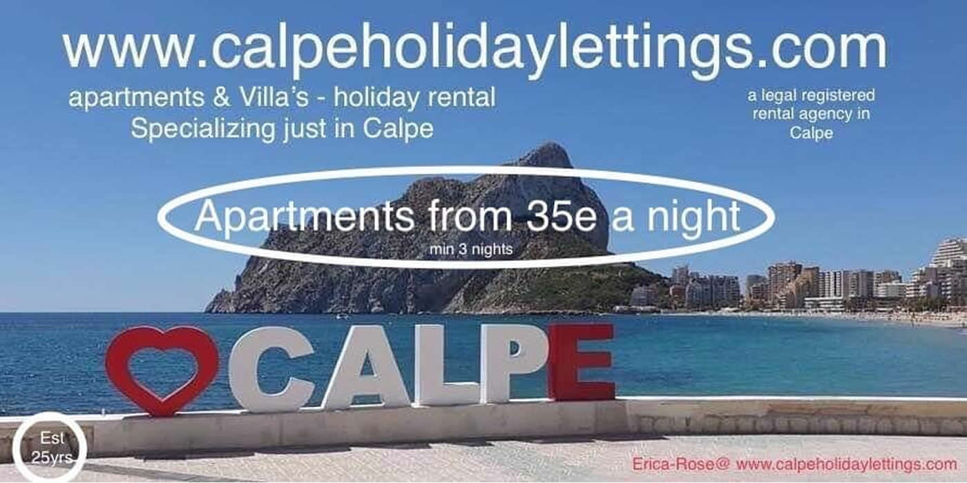 rent a villa or apartment in calpe spain - erica rose holiday rentals